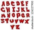English alphabet. Vector illustration - stock vector
