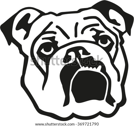 English Bulldog Silhouette Stock Images, Royalty-Free ...