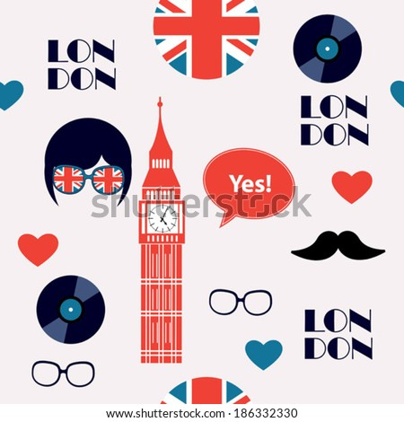 english light background - stock vector