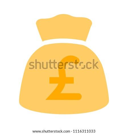 English Pound Money Bag Illustration Vector Stock Vector 1116311033