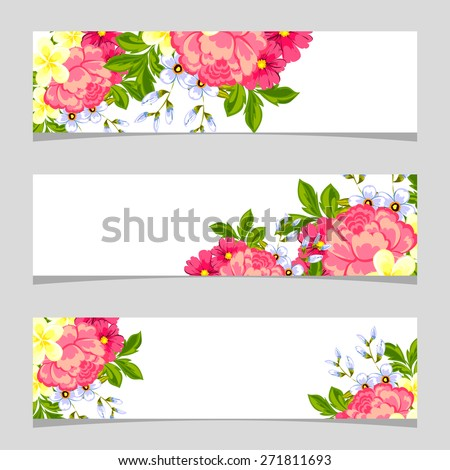 flower banner stock images royalty free images vectors shutterstock. Black Bedroom Furniture Sets. Home Design Ideas