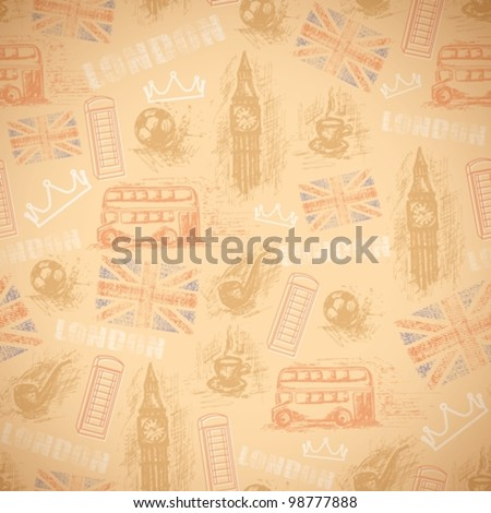 english vintage retro background - stock vector