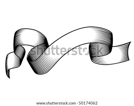 engraved banner - stock vector