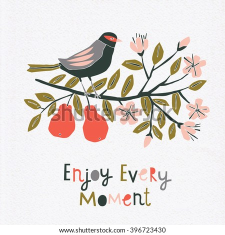 Enjoy Every Moment. Print Design - stock vector