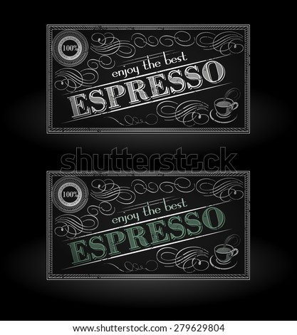 Enjoy the best espresso typography design on black