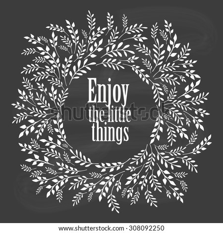 Enjoy the little things typography poster - stock vector