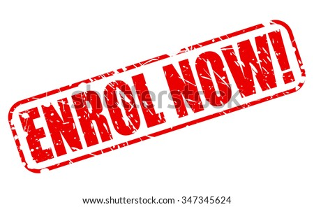 ENROL NOW red stamp text on white - stock vector