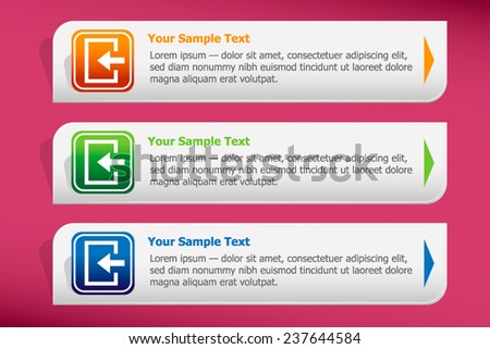 Enter. Safety outputs and design template vector. Graphic  or website.
