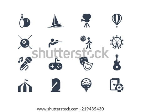 Entertainment icons - stock vector