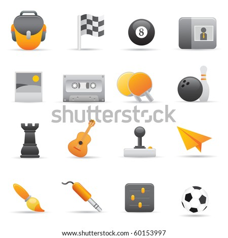 Entertainment Icons | Yellow02  Professional set for your website application, or presentation - stock vector