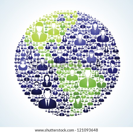 Entire world is socially connected and united around a vision. - stock vector