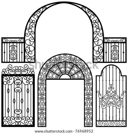 Entrance Gate Door Fence Vintage Retro Ancient Garden