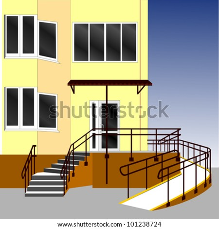 Entrance of a house. Vector Illustration