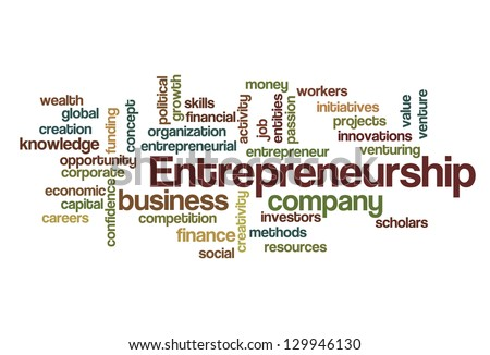 Entrepreneurship Word Cloud - stock vector