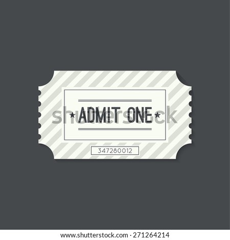 Entry ticket to old vintage style. Admit one theater, cinema, zoo, swimming pool, fair, rides, swing, amusement park, carousel. icon for online booking of tickets. Web and mobile app - stock vector
