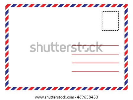 Envelope Air Mail Par Avion Letterhead Envelope Icon in trendy flat style