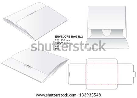 envelope bag for business documents - stock vector