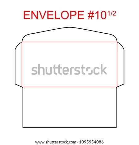 Booklet Envelope Template   Envelope 10 12 Die Cut Template Stock Vector 1095954086 Shutterstock
