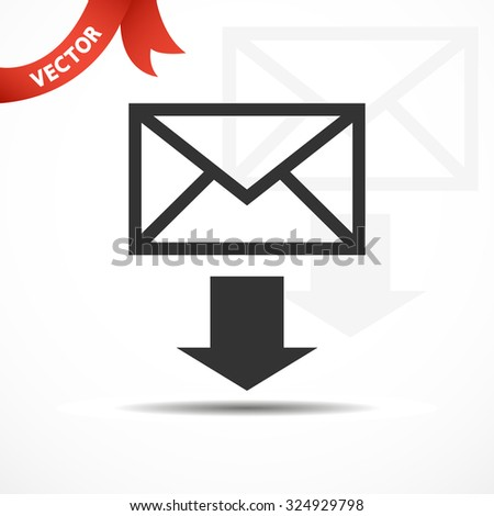 envelope download. vector illustration - stock vector