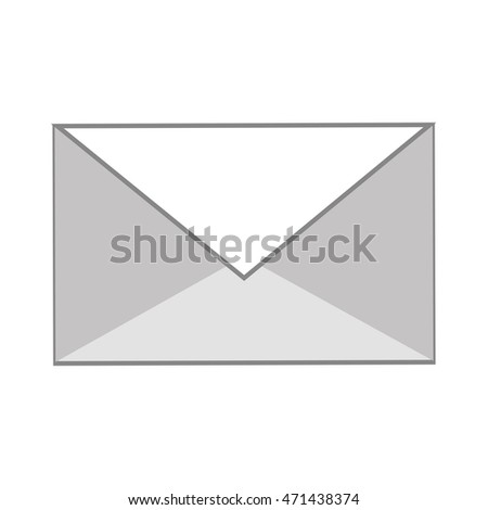 envelope email communication message icon. Flat and Isolated design. Vector illustration