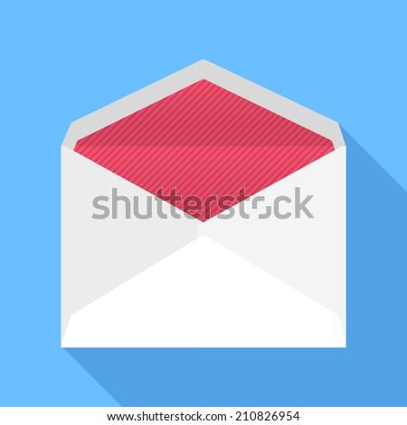 Envelope. Flat Design vector icon - stock vector