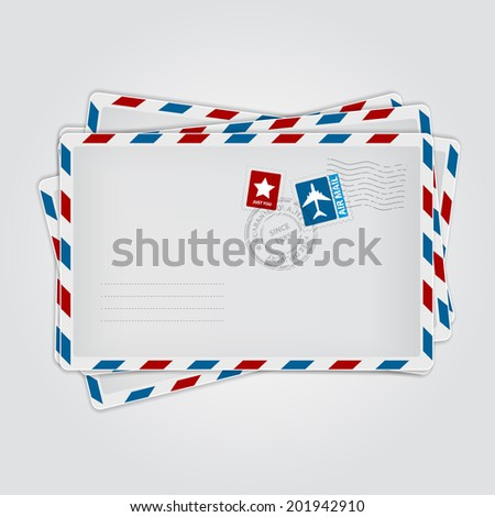 Envelope group. Vector illustration.
