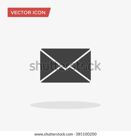 Envelope Icon in trendy flat style isolated on grey background. Mail symbol for your web site design, logo, app, UI. Vector illustration, EPS10. - stock vector