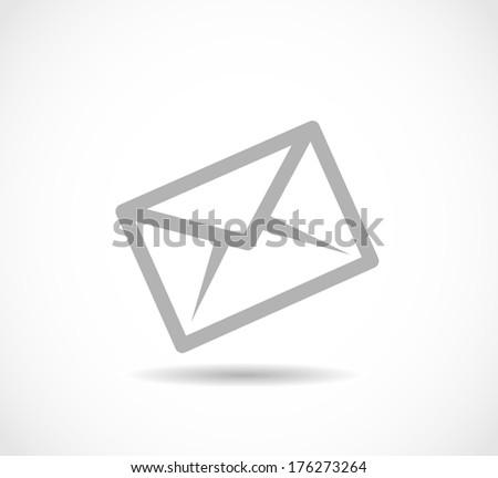 Envelope icon vector - stock vector