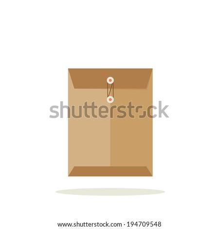 Envelope illustration, flat vector design - stock vector