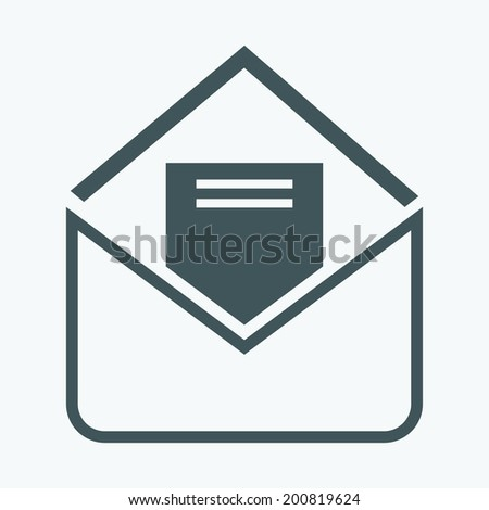 envelope letter - stock vector