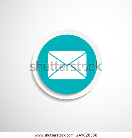 Envelope Mail Icon letter post email envelope  - stock vector