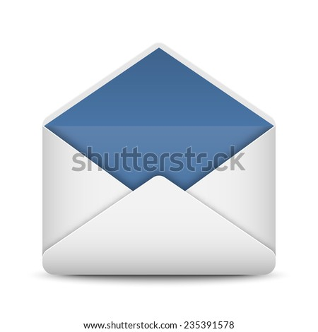 Envelope mail icon on white background, vector illustration - stock vector
