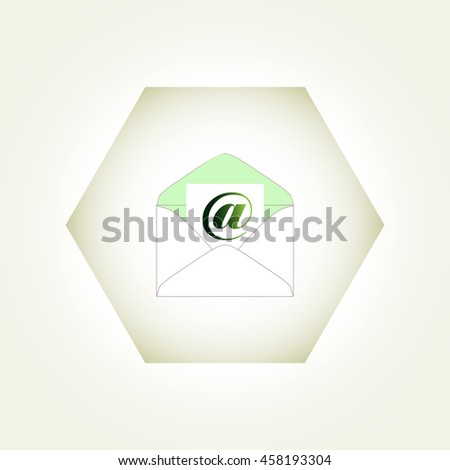 Envelope Mail icon, vector illustration. - stock vector