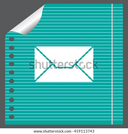 Envelope Mail icon, vector illustration.