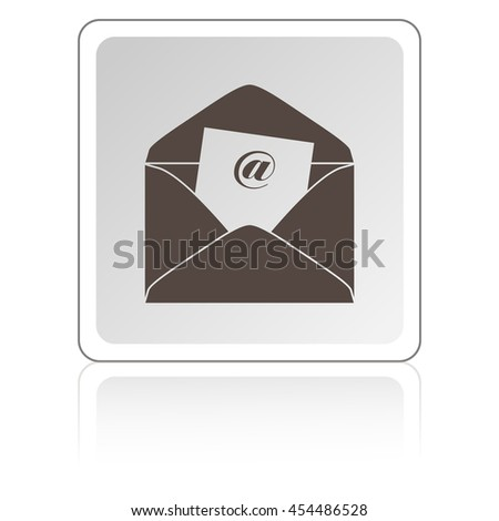 Envelope Mail icon, vector illustration. Flat design style - stock vector