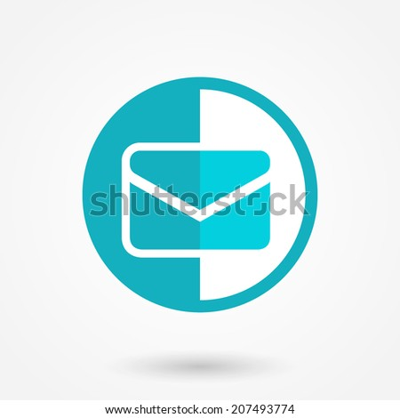 Envelope Mail icon, vector illustration. Flat design style. Blue color  - stock vector