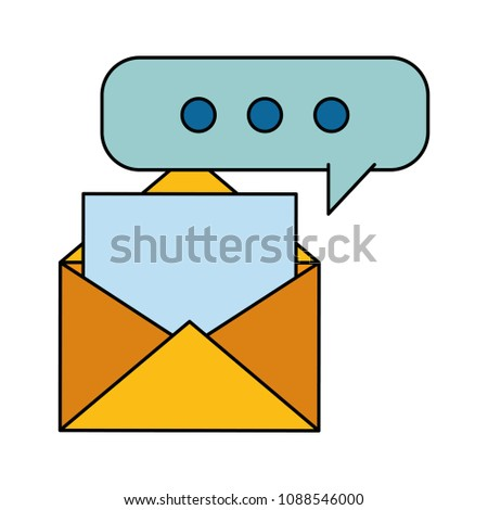 envelope mail financial document speech bubble stock vector