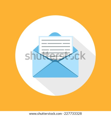 Envelope message in flat style - stock vector
