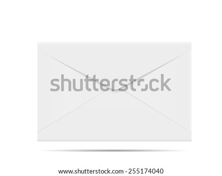 Envelope on white background. - stock vector