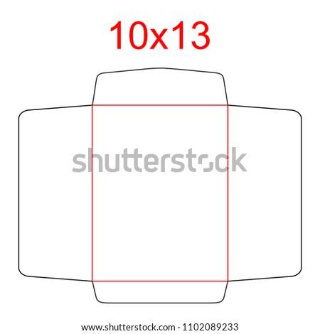 Envelope Open End Catalog Envelope X Stock Vector - 10x13 envelope template