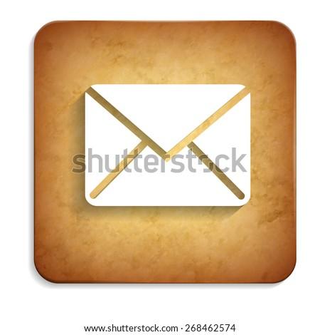 envelope rusty icon - stock vector