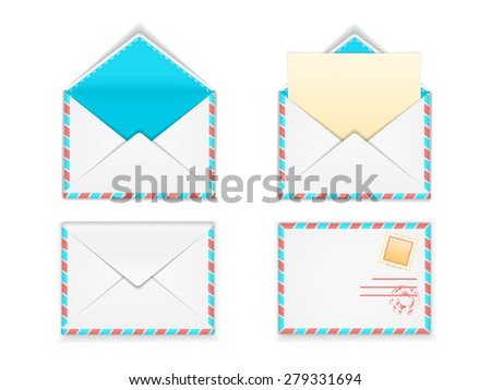 Envelope set. Vector illustration.