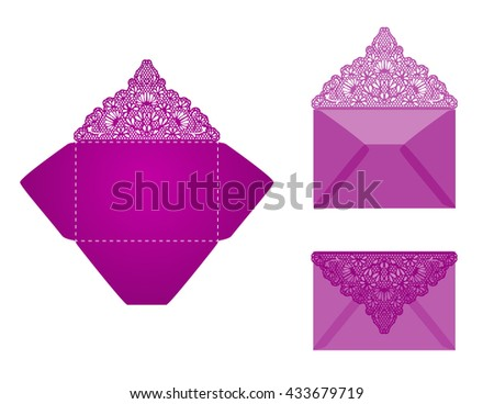 Envelope Template Vector Wedding Invitation Envelope Stock Vector - Wedding invitation envelope design templates