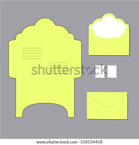 envelope templates. on grey background. Vector illustration - stock vector