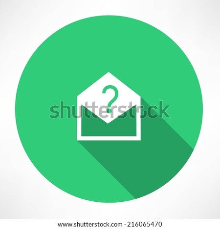 Envelope with a question mark - stock vector