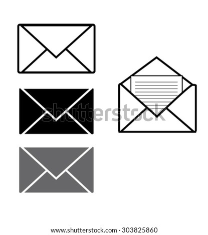 Envelopes mail vector set
