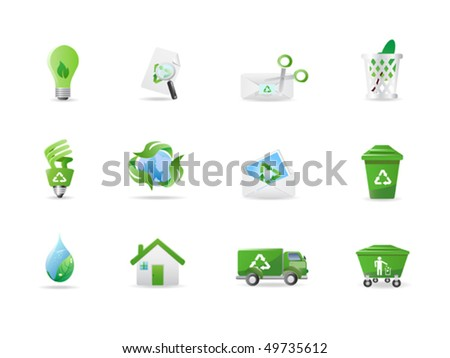 Environment and eco icons - stock vector
