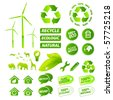 Environment collection - stock vector