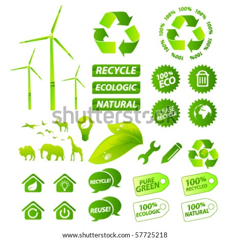Environment collection - stock vector