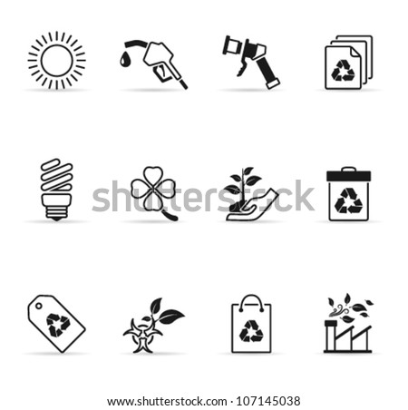 Environment  icon in single color - stock vector